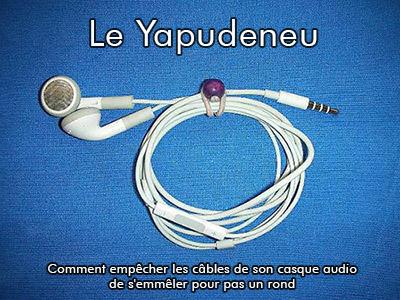 L'ornithorynque périgourdin - Yapudeneu, système anti noeuds pour câble d'écouteurs - 1