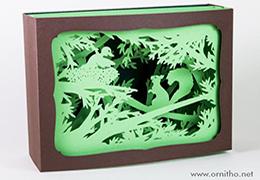 L'Ornithorynque périgourdin - Carte postale 3D - Découpe laser - L'écureuil