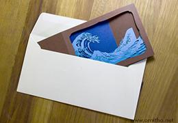 L'Ornithorynque périgourdin - Carte postale 3D - Découpe laser - Carte pliée