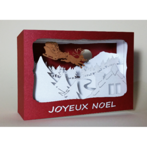 L'Ornithorynque périgourdin – Carte postale 3D – Découpe laser – Joyeux noël