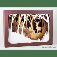 L'ornithorynque périgourdin | Tableau 3D, découpe laser – Le cerf couleur