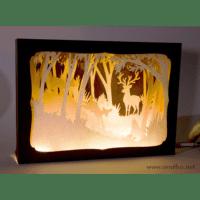 L'ornithorynque périgourdin | Tableau 3D, découpe laser – le cerf couleur en lumière