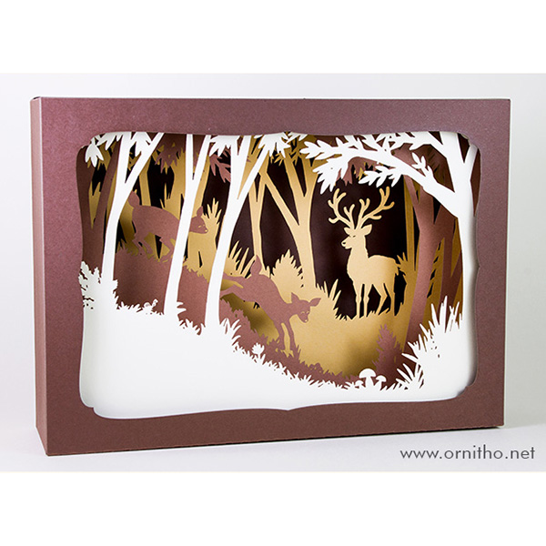 L'ornithorynque périgourdin | Tableau 3D, découpe laser - Le cerf couleur