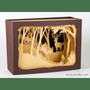 L'Ornithorynque périgourdin – Carte postale 3D – Découpe laser – Le cerf, papier mat