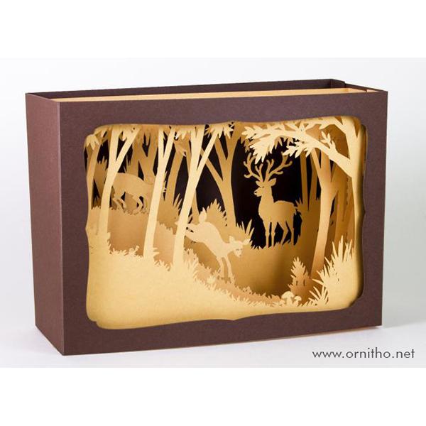 L'Ornithorynque périgourdin - Carte postale 3D - Découpe laser - Le cerf, papier mat