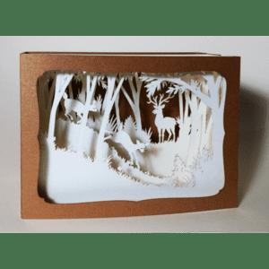 L'Ornithorynque périgourdin – Carte postale 3D – Découpe laser – Le cerf, papier irisé