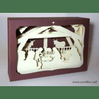 L'ornithorynque périgourdin | Tableau 3D, découpe laser, crèche blanche