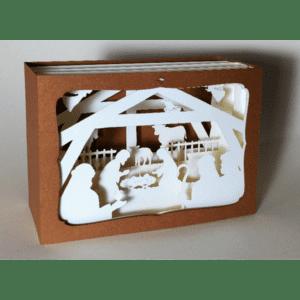 L'Ornithorynque périgourdin – Carte postale 3D – Découpe laser – la crèche