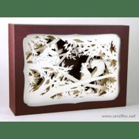 L'ornithorynque périgourdin | Tableau 3D, découpe laser – L'écureuil, blanc