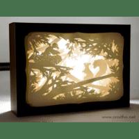 L'ornithorynque périgourdin | Tableau 3D, découpe laser – L'écureuil, blanc en lumière