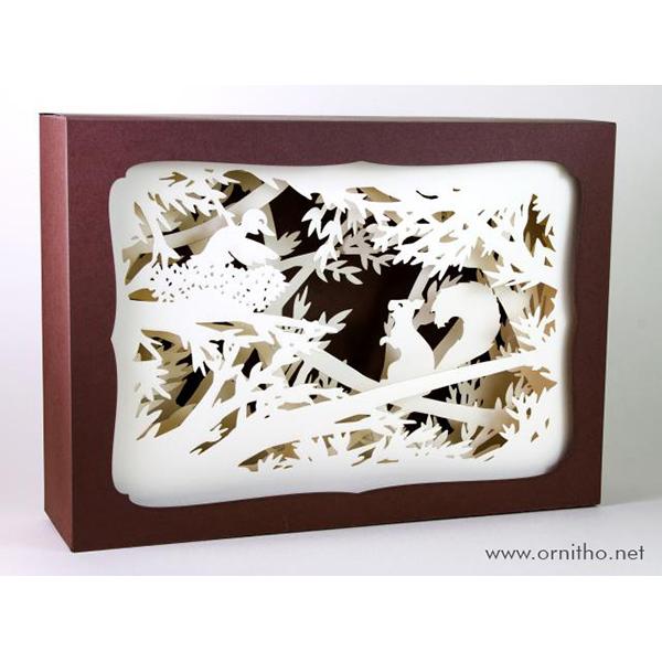 L'ornithorynque périgourdin | Tableau 3D, découpe laser - L'écureuil, blanc