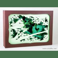 L'ornithorynque périgourdin | Tableau 3D, découpe laser – L'écureuil, couleur