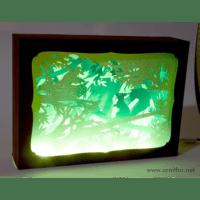 L'ornithorynque périgourdin | Tableau 3D, découpe laser – L'écureiil, couleur en lumière