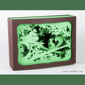 L'Ornithorynque périgourdin – Carte postale 3D – Découpe laser – L'écureuil