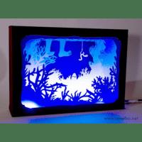 L'ornithorynque périgourdin | Tableau 3D, découpe laser – La pêche couleur en lumière