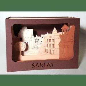 L'Ornithorynque périgourdin – Carte postale 3D – Découpe laser – Sarlat, papier mat
