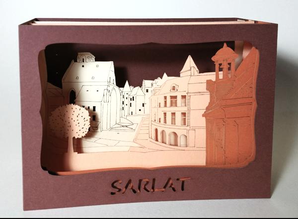 L'Ornithorynque périgourdin - Carte postale 3D - Découpe laser - Sarlat, papier mat