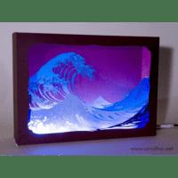 L'ornithorynque périgourdin | Tableau 3D, découpe laser – la vague en lumière
