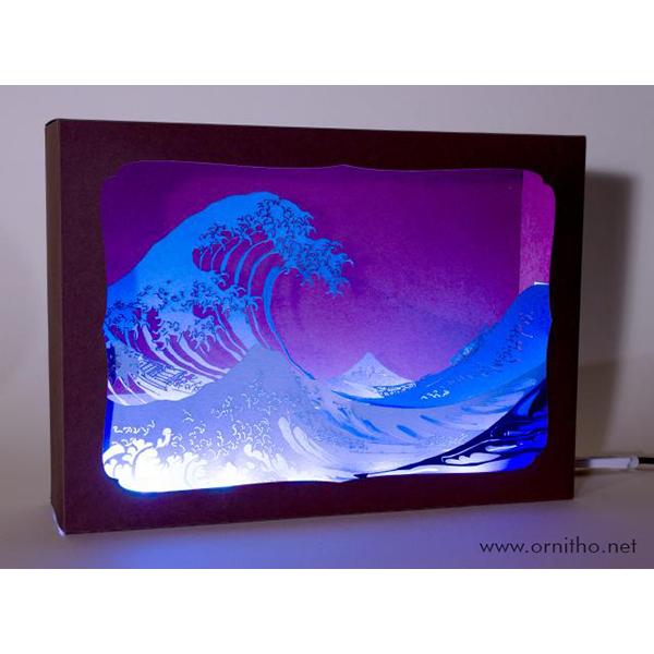 L'ornithorynque périgourdin | Tableau 3D, découpe laser - la vague en lumière